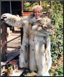 Ma Nugent at Teds house in one of Ted's fur coats, photo by: Eeric Kinkel