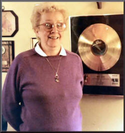 Ma Nugent and gold record, photo by Eric Kinkel
